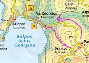 Map of Walk 6 at Agios Georgios